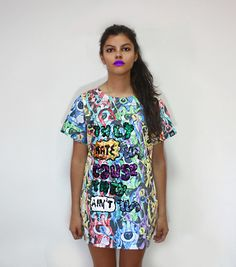 UNHATERS  tshirt, color, oversize, sequins, fashion, makeup, undecided, unlovers, fun, glitter, design, shiny, club, aliens, spontaneous, irreverent, gold, pink, blue, green, white, purple, unlovers , handmade, pattern