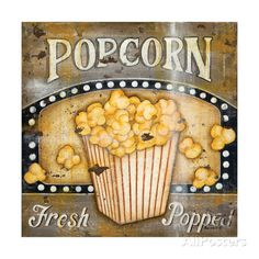 Popcorn Posters by Kim Lewis at AllPosters.com
