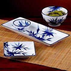 sushi plates and bowls