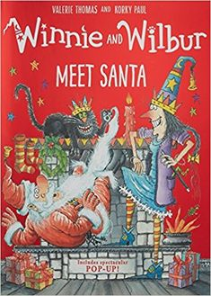 """Read """"Winnie and Wilbur Meet Santa"""" by Valerie Thomas available from Rakuten Kobo. A fabulously festive story with a spectacular pop-up ending! When Winnie and Wilbur write their letters to Santa they ne. Santa Story, 4 Image, Thé Illustration, Its Christmas Eve, Christmas Presents, Holiday, Meet Santa, Winnie, Thing 1"""
