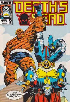 """I love this Walter Simonson cover!  Death's Head is a fictional comic book character, a robotic bounty hunter (or rather, as he calls himself, a """"freelance peace-keeping agent"""") appearing in the books published by Marvel Comics. The character was created by writer Simon Furman and artist Geoff Senior for the company's Marvel UK imprint."""