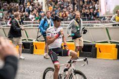 Alberto Contador relaxing at the end of the Tour de France