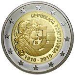2 euro 100th anniversary of Republic Portugal - 2010 - Series: Commemorative 2 euro coins - Portugal