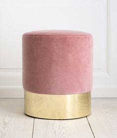 Blush velvet stool.  Love!
