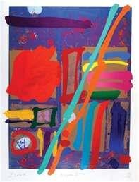 Albert Irvin - abstract print