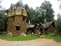 Fairytale Castle in Fairhope Alabama. The Mosher Castle is a real house with a family living inside, but tours are available upon request.