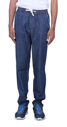 Romano Men's Soft Feel and Sporty Look Blue Denim Track Pant -- Get more discounts! Click the pin : 99 cent sports and outdoors