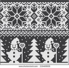 New Knitting Christmas Patterns Crochet Slippers Ideas - Knitting Charts Knitting Charts, Knitting Patterns, Crochet Patterns, Crochet Ideas, Knitted Christmas Stockings, Christmas Knitting, Intarsia Patterns, Cross Stitch Patterns, Graph Crochet