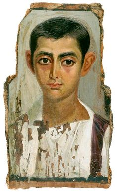 Portrait of Fayoum, ad 115. Encaustic. Roman Egypt.