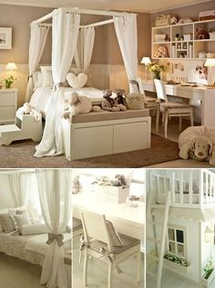 Adorable bedroom for a little girl...and it has no pink. Perfect.