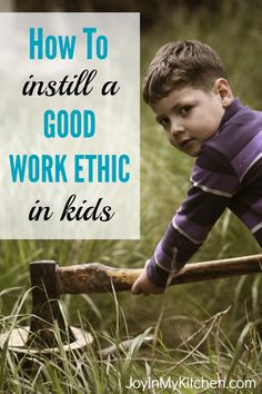 Practice these 4 simple habits to help instill a good work ethic in kids. Influence how they do their chores, finish their homework and help the neighbors.