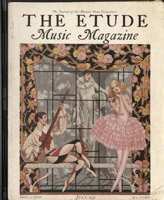 Music Magazines, Old Magazines, Vintage Magazines, Magazine Images, Magazine Art, Magazine Covers, Vintage Images, Vintage Posters, Pierrot