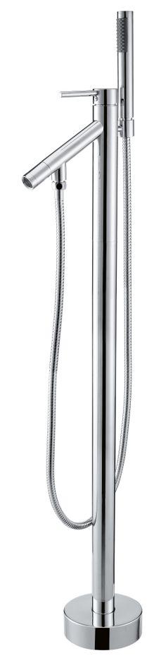 """In modernem und klarem Design präsentiert sich diese Standarmatur """"Lago di Lugano"""". Hier verbinden sich runde Formen mit klarem und geradlinigem Design. Eine ganz edle und besondere Standarmatur welche sich sowohl für runde und ovale Wannen, als auch für eckige Badewannen als ganz besonderes Designobjekt in Ihrem Badezimmer anbietet.  http://www.baedermax.de/standarmaturen/lago-di-lugano-6.html"""