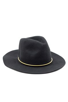 59422dc7b74 The brass bar around this hat is optional for a dressed up or dressed down  look.