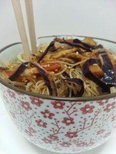 Fideos de Arroz al Wok con Verduritas   Gastrocenicienta
