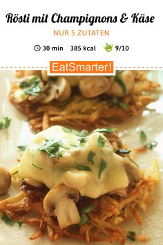 Roasted meat with mushrooms and cheese – smarter – Calories: 385 kcal – Weather … – Schnelle Rezepte – Healthy Snacks Healthy Eating Tips, Eating Habits, Healthy Snacks, Healthy Recipes, Hamburger Meat Recipes, Sausage Recipes, Snack Recipes, Dinner Recipes, Cooking Recipes