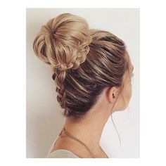 Pinterest • The world's catalog of ideas ❤ liked on Polyvore featuring beauty products, haircare, hair styling tools, hair, hairstyles and buns