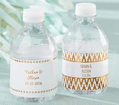 Personalized Water Bottle Labels - Copper Foil | Kate Aspen