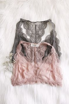 """- Details - Size - Shipping - • 90% Nylon 10% Spandex Lining: 85% Nylon 15% Spandex • Soft lace racerback bralette • Hand Wash • Line dry • Imported • Measured from small • Length 9.5"""" • Chest 12.5"""" -"""