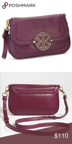Authentic Tory Burch Amanda Crossbody in purple Authentic Tory Burch Amanda crossbody gently used in great condition in purple Tory Burch Bags Crossbody Bags
