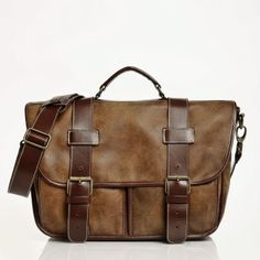 Global Briefcase Tribe Leather | Mens Medium Leather Bags | Roots