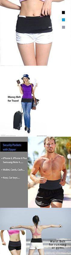 Money Belts and Wallets 98968: Hip Women Men Fashion Running Belt Travel Money Zipper Smartphone Pocket Sports -> BUY IT NOW ONLY: $30.95 on eBay!