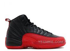 info for 70372 c68f4 Jordan 12 Flu Game 2016 Black and Varsity Red (GS) Womens Jordans, Nike