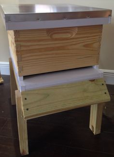 Complete 10F Deep Hive with PVC Telescoping, Deep Hive Body with Frame & Foundation, PVC Screened Bottom Board with Insert for Varroa Mites.