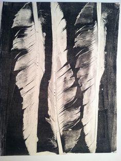 Feather Gelatin Print (DIY)