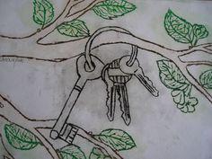 klíče - suchá jehla