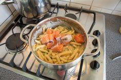 Pasta ovenschotel met zalm en basilicum roomsaus - Keuken♥Li