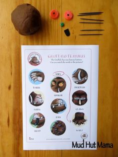 "Gruffalo Play Dough Fun from Mud Hut Mama ("",) Gruffalo Activities, Gruffalo Party, The Gruffalo, Book Activities, Gruffalo Eyfs, Birthday Party Favors, Birthday Parties, Gruffalo's Child, World Book Day Ideas"
