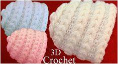 Crochet Beanie Hat In 3D Point Braided Eyelet