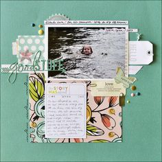 "Made using the Cocoa Daisy September kit ""Story Time"" and add ons. Goes on sale on Sept 1st. www.cocoadaisy.com #cocoadaisykits #scrapbooking #kitclub"