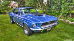 This is a 1968 Ford Mustang Coupe.