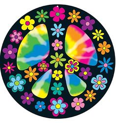 60s Flower Power Peace Sign