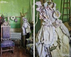 Échelles en bois et papier, grande robe de princesse, créations Miss Clara
