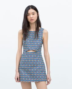 Loving Zara's 70s inspired looks. It also doesn't hurt that this looks like a dress but is actually shorts underneath.