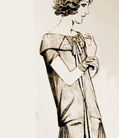 1920s Sewing patterns. Splendid neck and collar lines and loads of character.