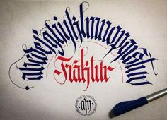 CALLIGRAPHY FRAKTUR PROJECT by Alberto Manzella, via Behance