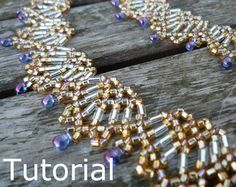 Fans Necklace Beadwork Pattern/Tutorial - Instant Download