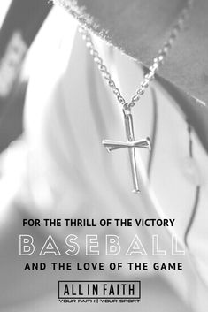 The three bats symbolize the Father, the Son, and the Holy spirit. The Trinity lies at the center of every Christian athlete's core beliefs and it is direct reflected into this baseball pendant. Adding one of our many chains to this pendant will give you a great piece to show off your love for the game and faith both on and off the field. #baseball #baseballjewelry #sportsjewelry #jewelry