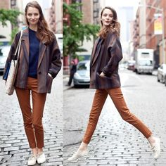 Calça ferrugem #jeans #streetstyle #style #fashion #look #looks #moda