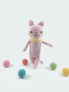 Crochet Cat, Amigurumi Cat, Crochet Doll, Crochet Animal, Amigurumi Doll, Stuffed Cat, Crochet Softie, Plush Cat, Crocheted Blush Pink Cat, by MossyMaze on Etsy https://www.etsy.com/listing/249367176/crochet-cat-amigurumi-cat-crochet-doll