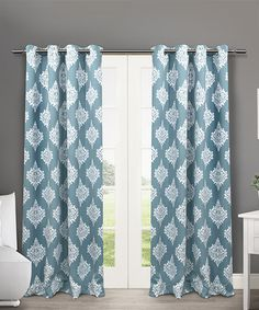 Exclusive Home Teal Medallion Blackout Thermal Curtain Panel - Set of Two | zulily
