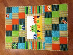 The Monster quilt I made for a friends new baby boy. I got some of the monster ideas on here, but I'm not sure where from!