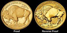 1 Oz American Gold Buffalo Coin Reverse Proof / Proof - Buffalo
