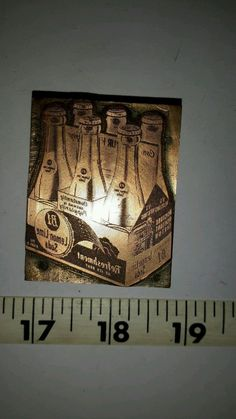 Vintage Letterpress Printing Block B-1 Lemon-Lime Soda 6 Pack Logo Advertising