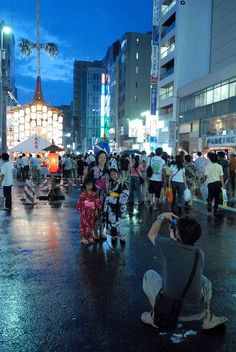 The Gion Festival is a neighborhood celebration that now welcomes more than a million visitors.    http://gionfestival.org/
