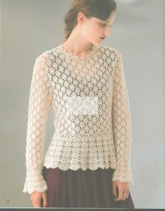 crochelinhasagulhas: Blusa e vestido em crochê